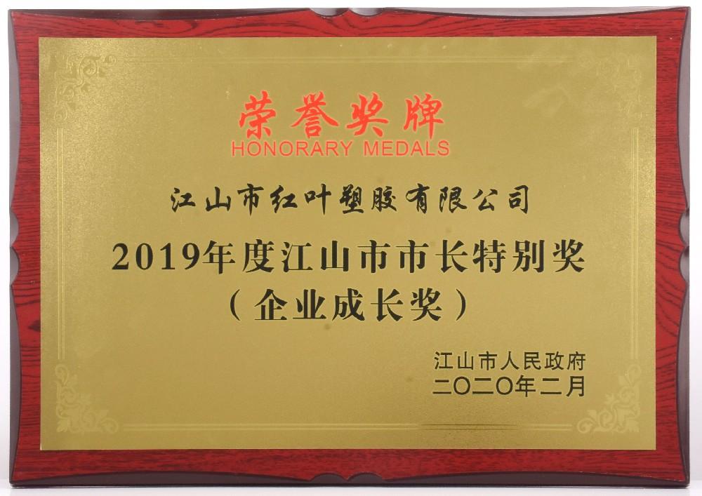 2019年度江山市市长特别奖